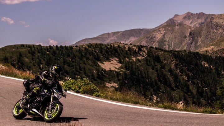 Motorradfahrer unterwegs